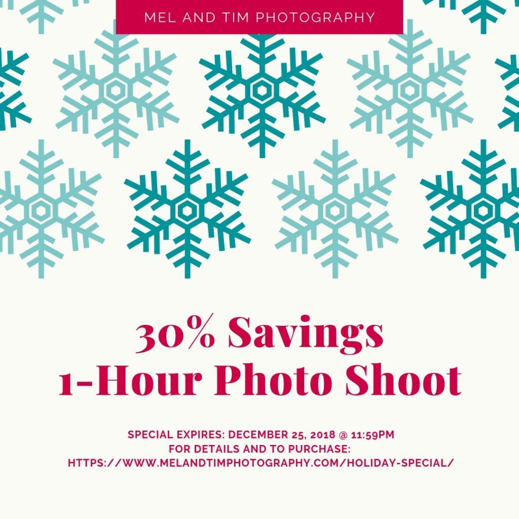 30% OFF AN HOUR PHOTO SHOOT